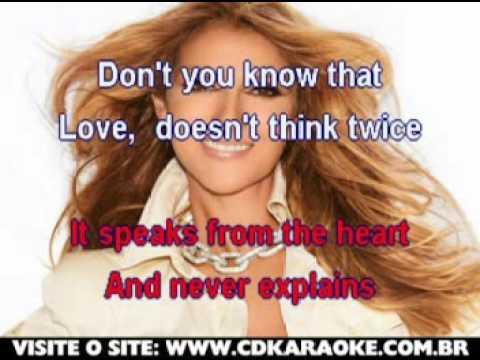 Celine Dion   Love Doesn't Ask Why